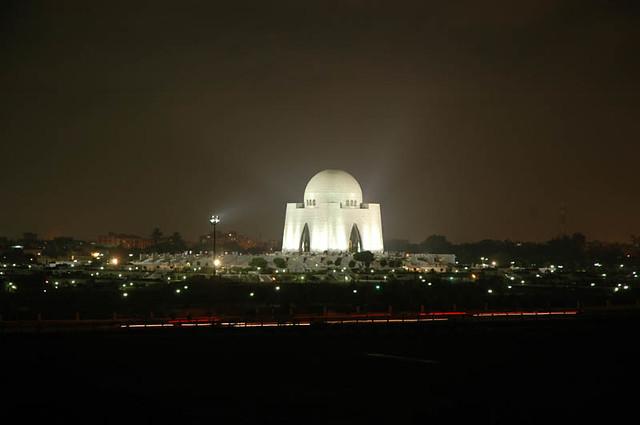 Tomb of Quaid-e-Azam night