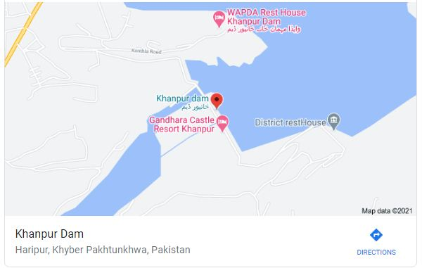 khanpur lake map