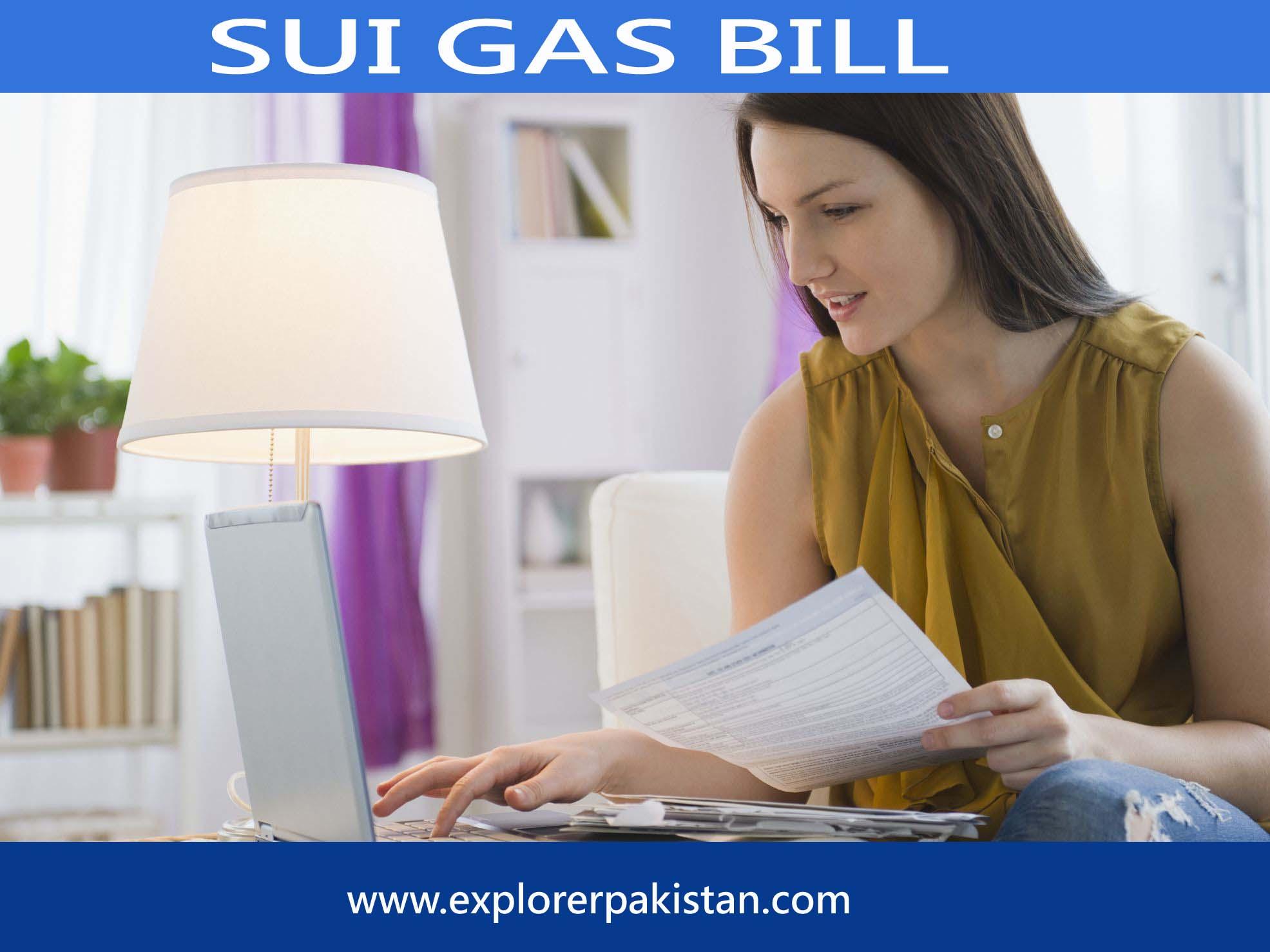 Sui gas bill online
