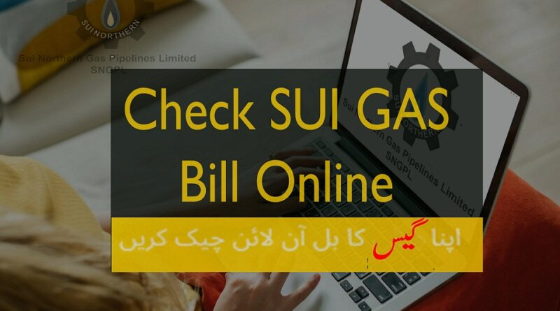 sngpl - check sui gas bill online