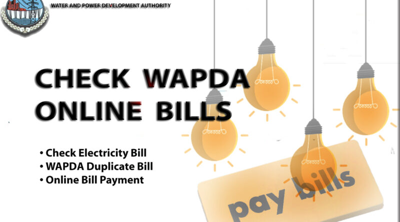 WAPDA bill online check
