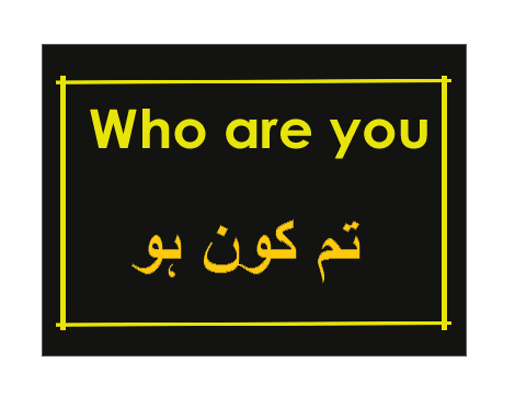 who are you meaning in urdu