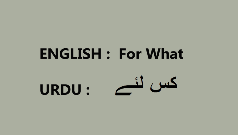 for what meaning in urdu