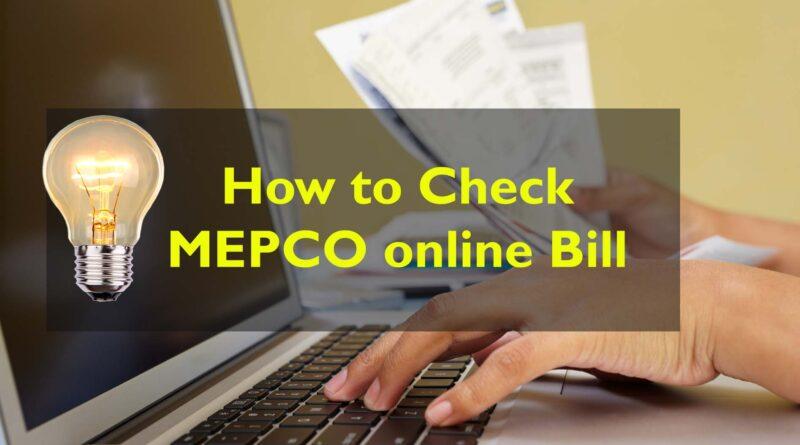 mepco bill online check