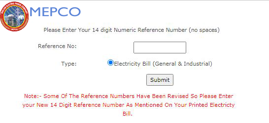 mepco online bill check