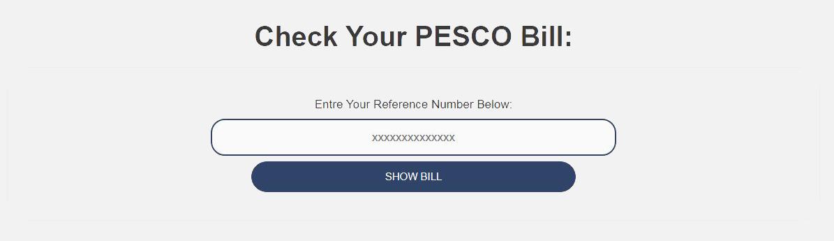pesco online bill