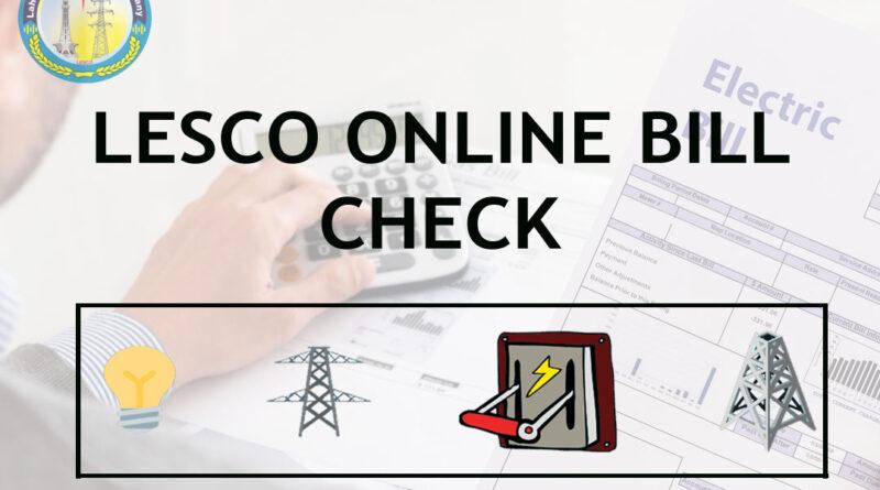 LESCO Online Bill